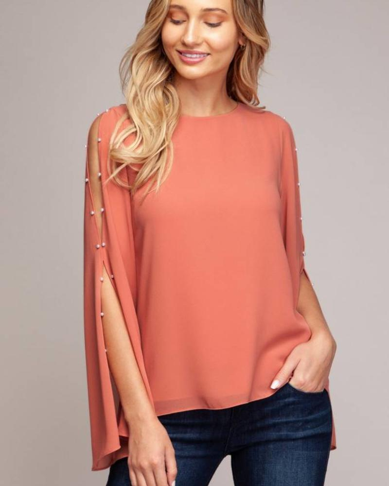 Long Sleeve Tera Pearl Blouse