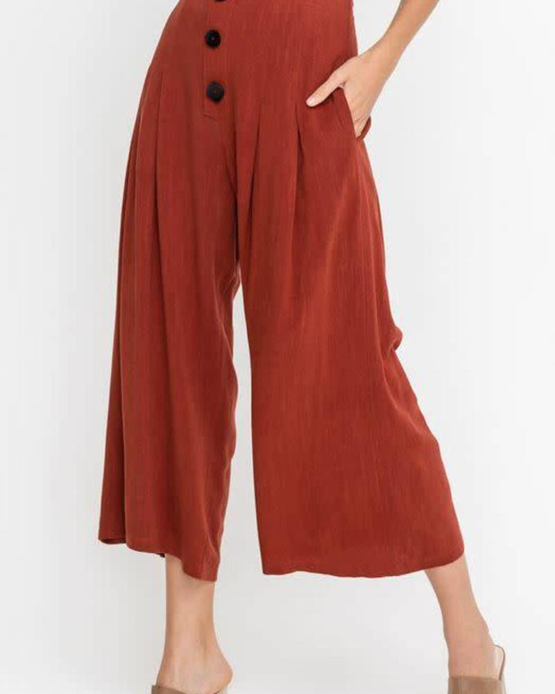 Flowy Buttoned Culottes