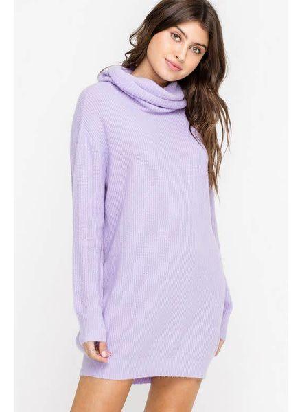 LUSH Slouchy Turtleneck Sweater Dress
