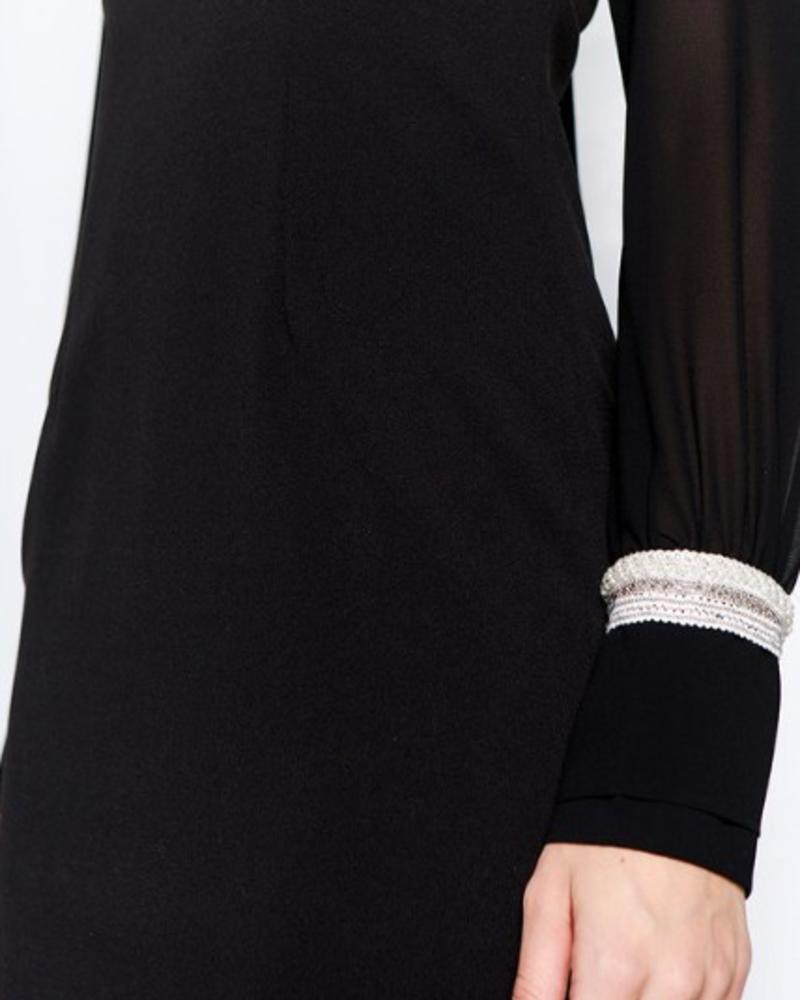 Pamelina Jewel Cuff Midi Dress