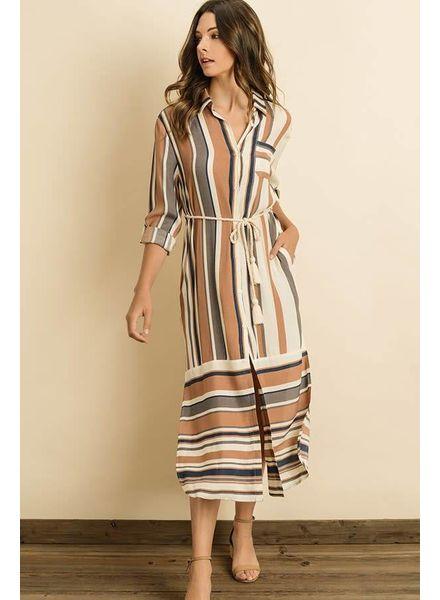 Dress Forum Stripe Midi Shirt Dress