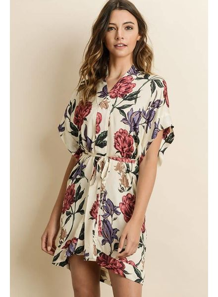 Blooming Kimono Dress