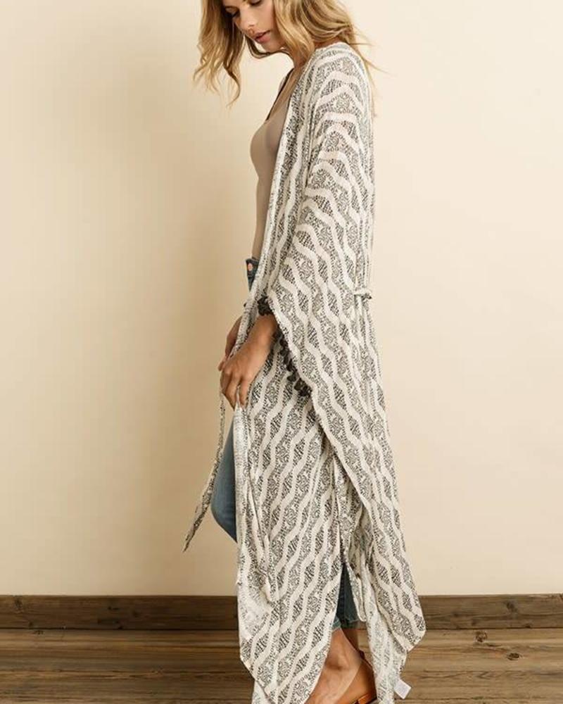 Ethnic Tasseled Kimono