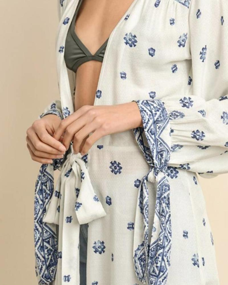 Tie-Front Maxi Duster