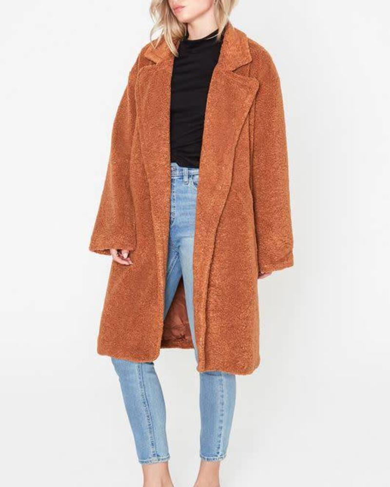 LUSH Camel Oversized Teddy Coat