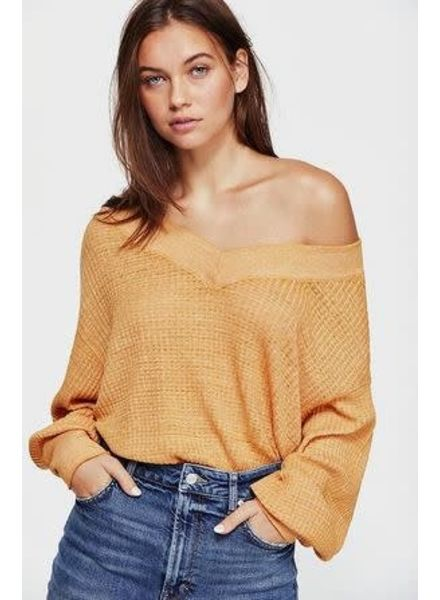 Free People We The Free South Side Thermal Top | Yellow