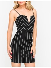 Notched Sweetheart Cocktail Mini Dress