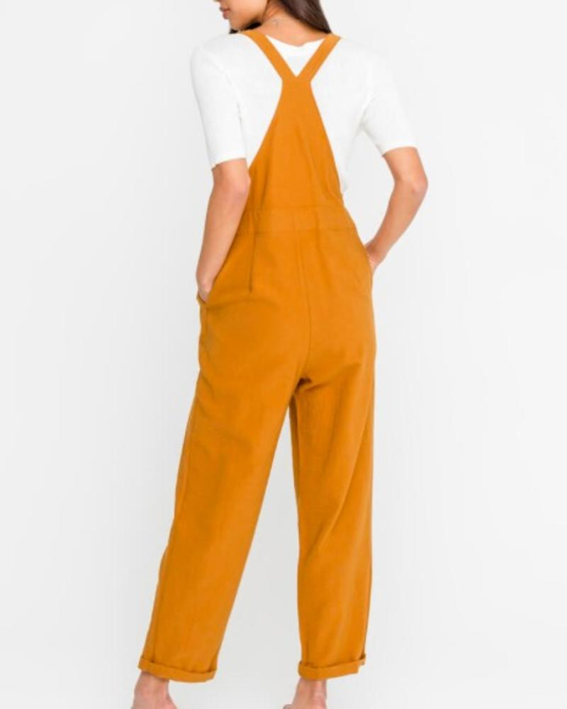 LUSH Buttoned Knotted Strap Overalls