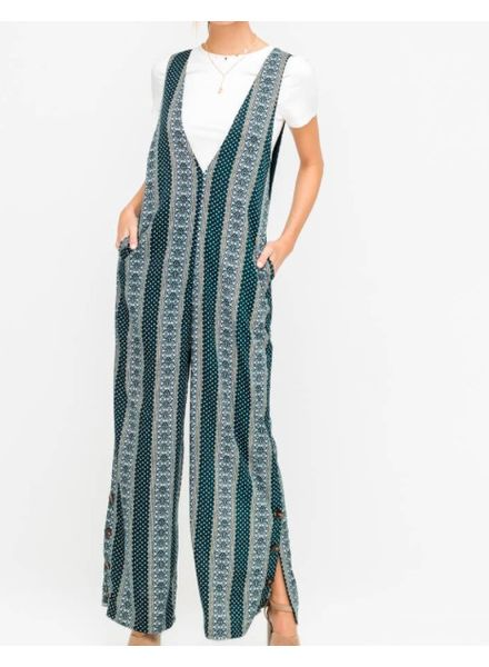 Hipster Wide Leg Tunic Jumpsuit