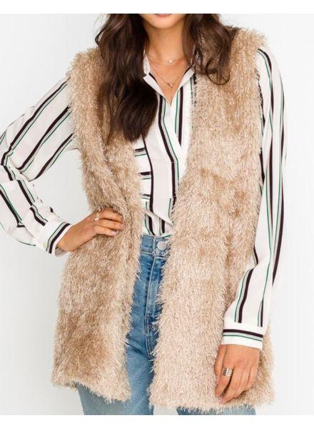 Fuzzy Mohair Vest