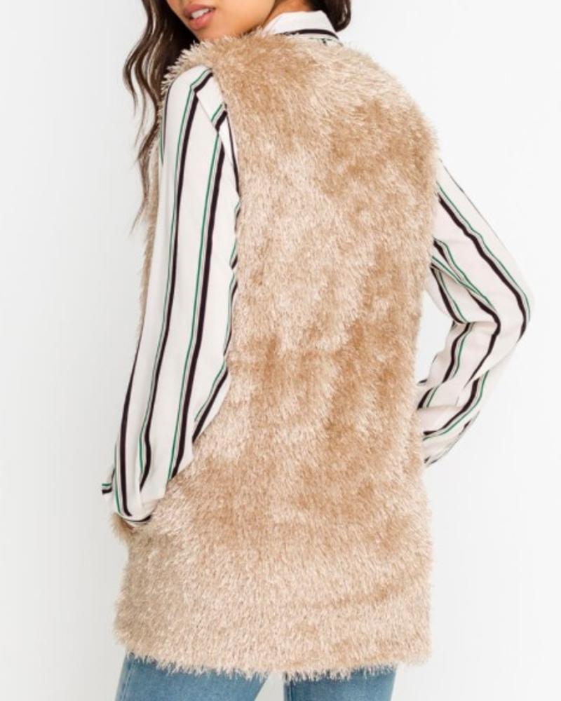 LUSH Fuzzy Mohair Vest