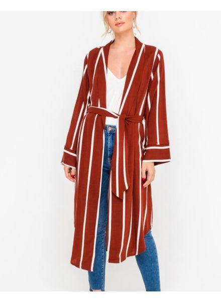 Stripe Duster Jacket