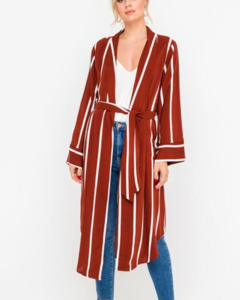 LUSH Stripe Duster Jacket