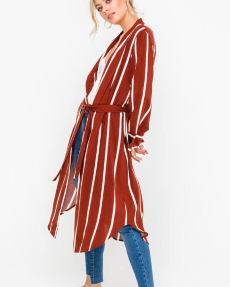Stripe Duster Jacket