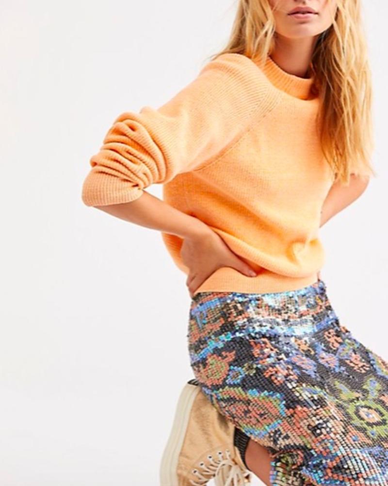 Free People Too Good Pullover | Orange