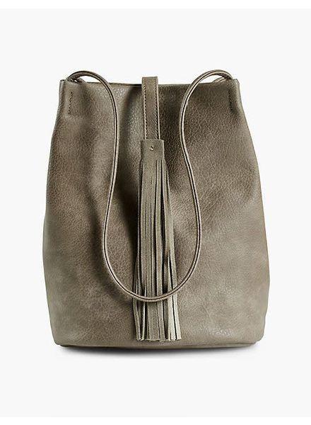 Grey Shoulder Bag w/ Tassel