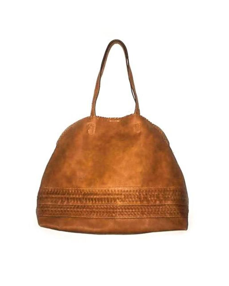 Street Level Braided Brown Tote