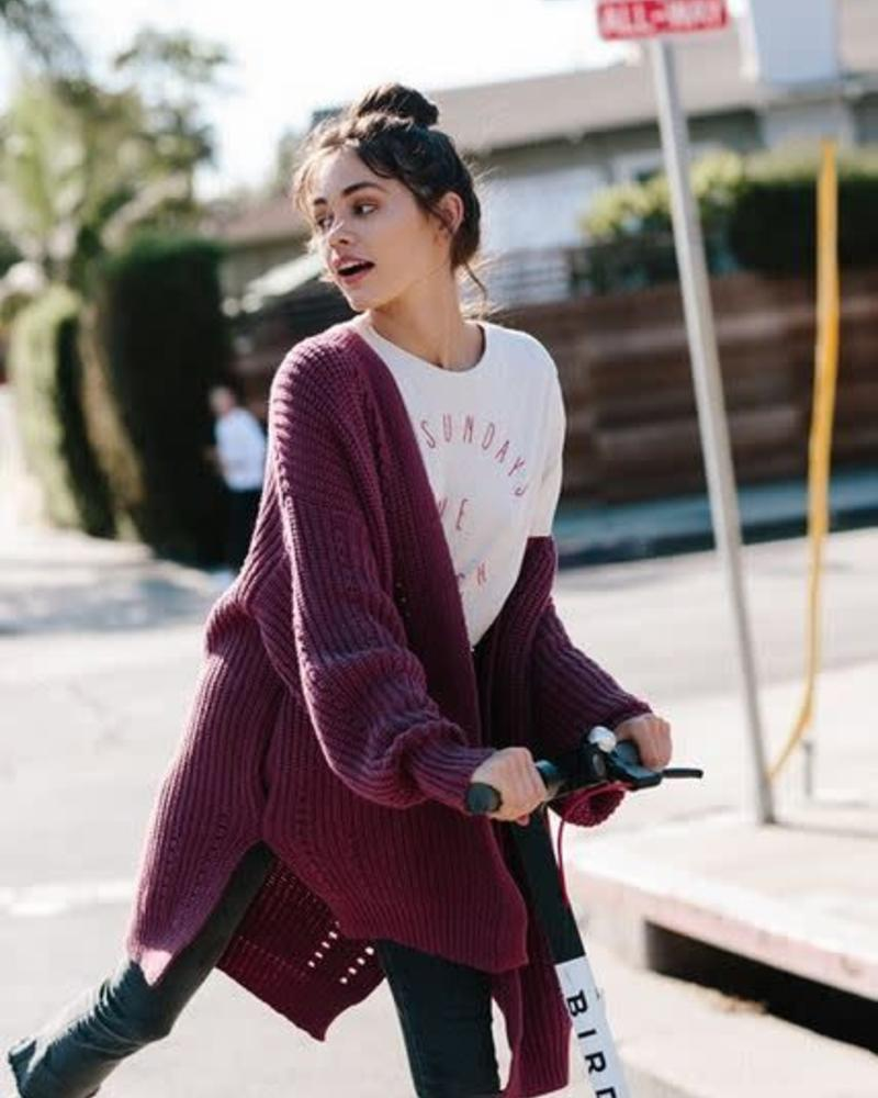 By Together Berry Cardigan