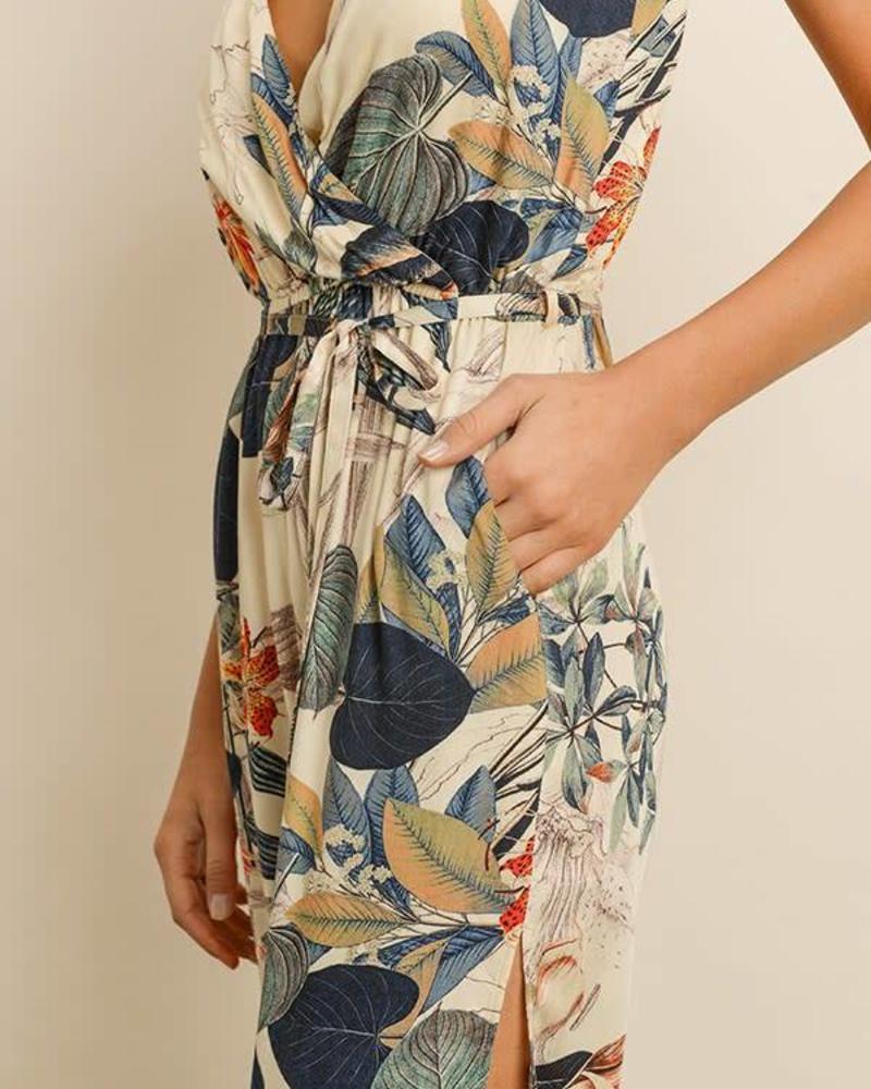 Dress Forum Floral Surplice Jumpsuit