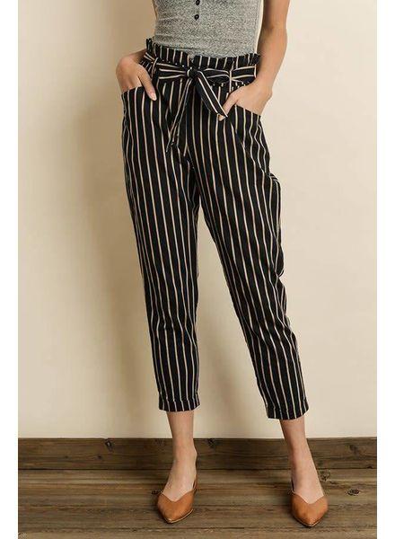 Triple Striped Cigarette Pants