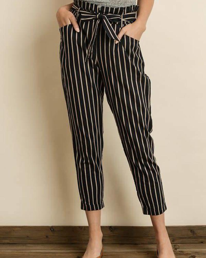 Dress Forum Triple Striped Cigarette Pants
