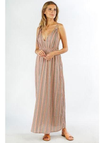 LOVE STITCH Yarn Dye Maxi Dress