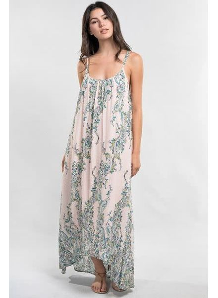 LOVE STITCH Tila Floral Printed Maxi Dress