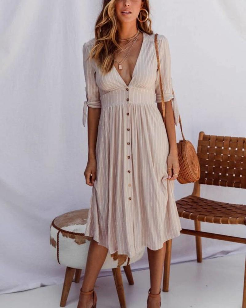 Beige Known Dress