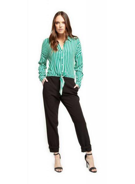 Green Stripe Blouse