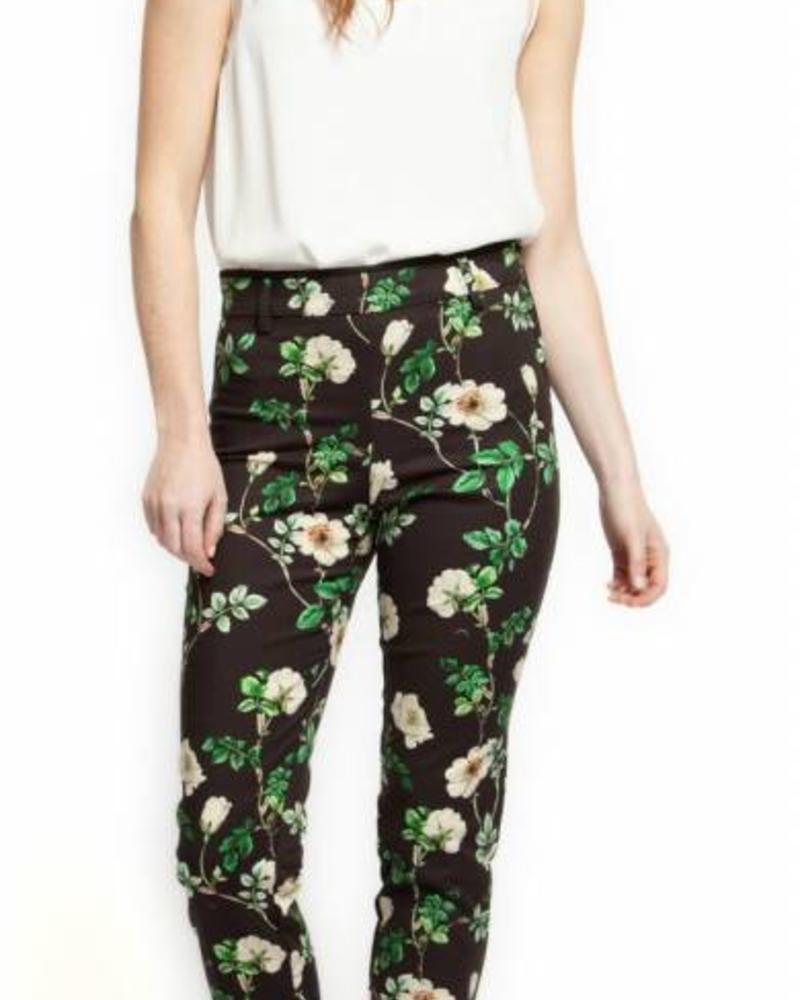 Green Floral Dress Pant