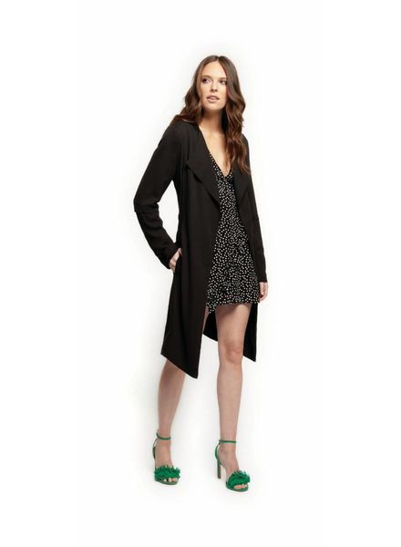 Easton Fallaway Duster Coat | Black