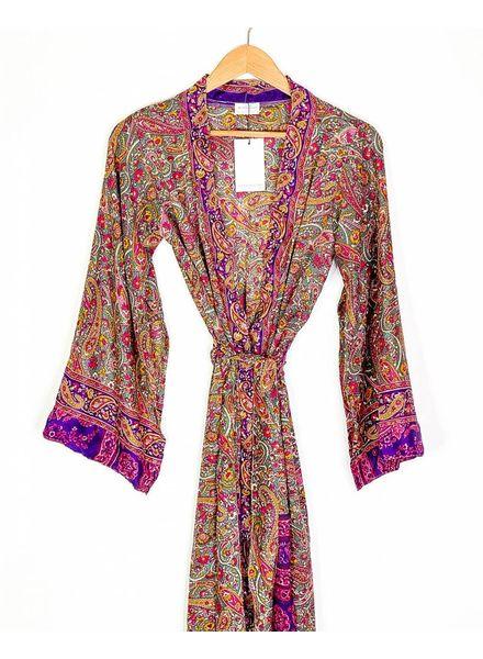 Southern Kimono | Purple Paisley