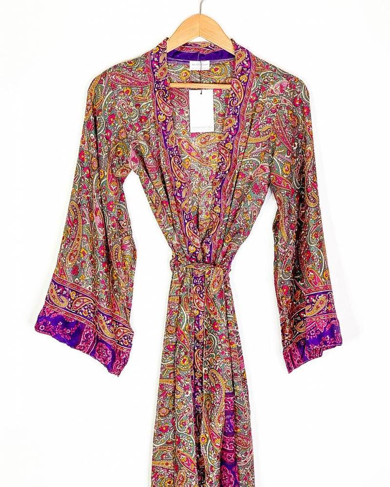 Southern Kimono   Purple Paisley