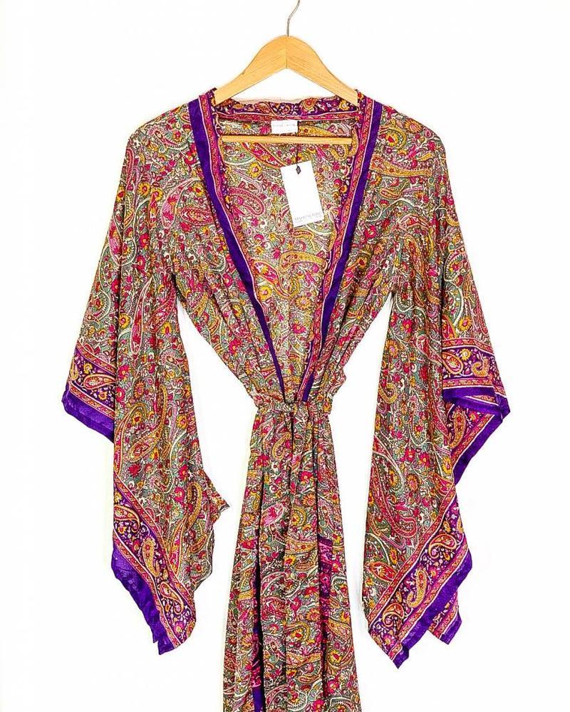Northern Kimono | Purple Paisley
