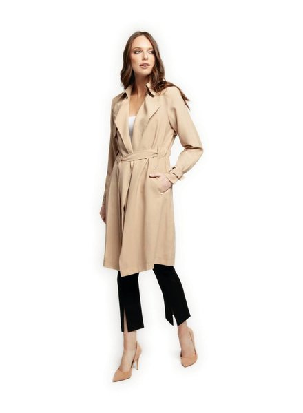 Trench Coat w/ Self Belt