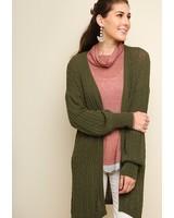 Olive Knit Cardi