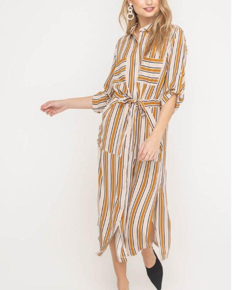 Stripe Kimono Dress