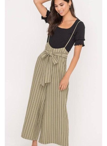 Olive Belt Overall Pants