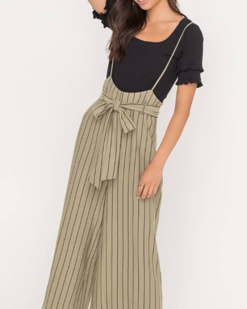 Olive Belt Overall Pants