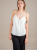 Double Layered Cami | White