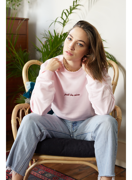 Just Be Nice Cropped Sweatshirt