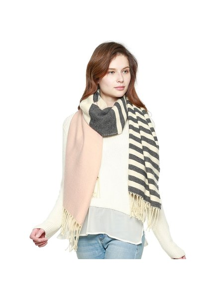 Ultra Soft Stripe Pink Scarf