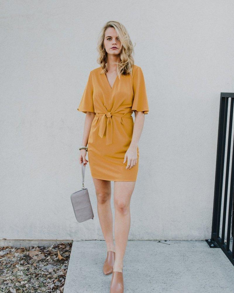 Mardi Gold Mini Dress