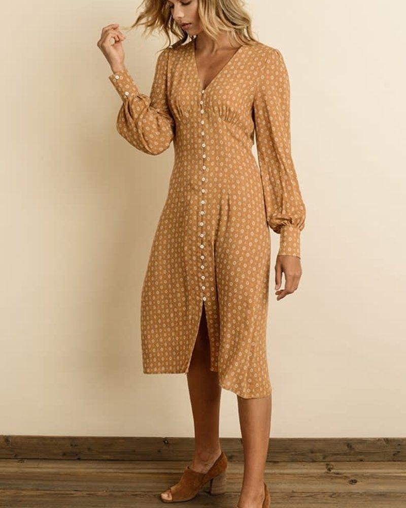 Bishop Sleeve Midi Dress