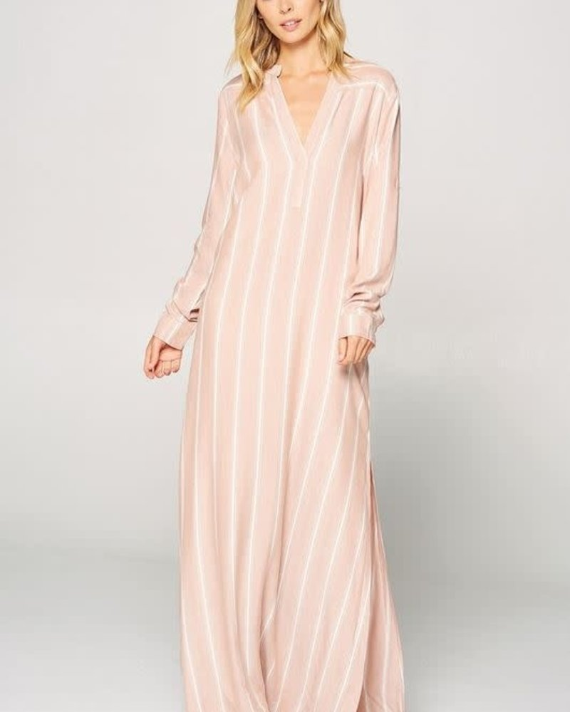 a6c91e55738 Tripoli Mandarin Collar Long Sleeve Maxi Dress - Thelma   Thistle
