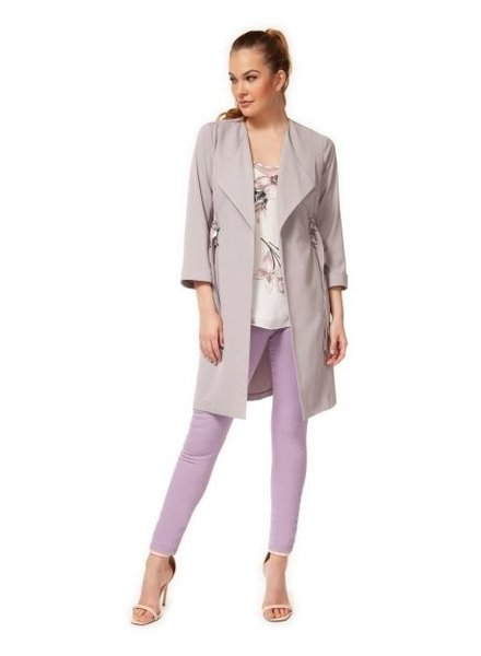 Double D-Ring Duster Coat | Grey