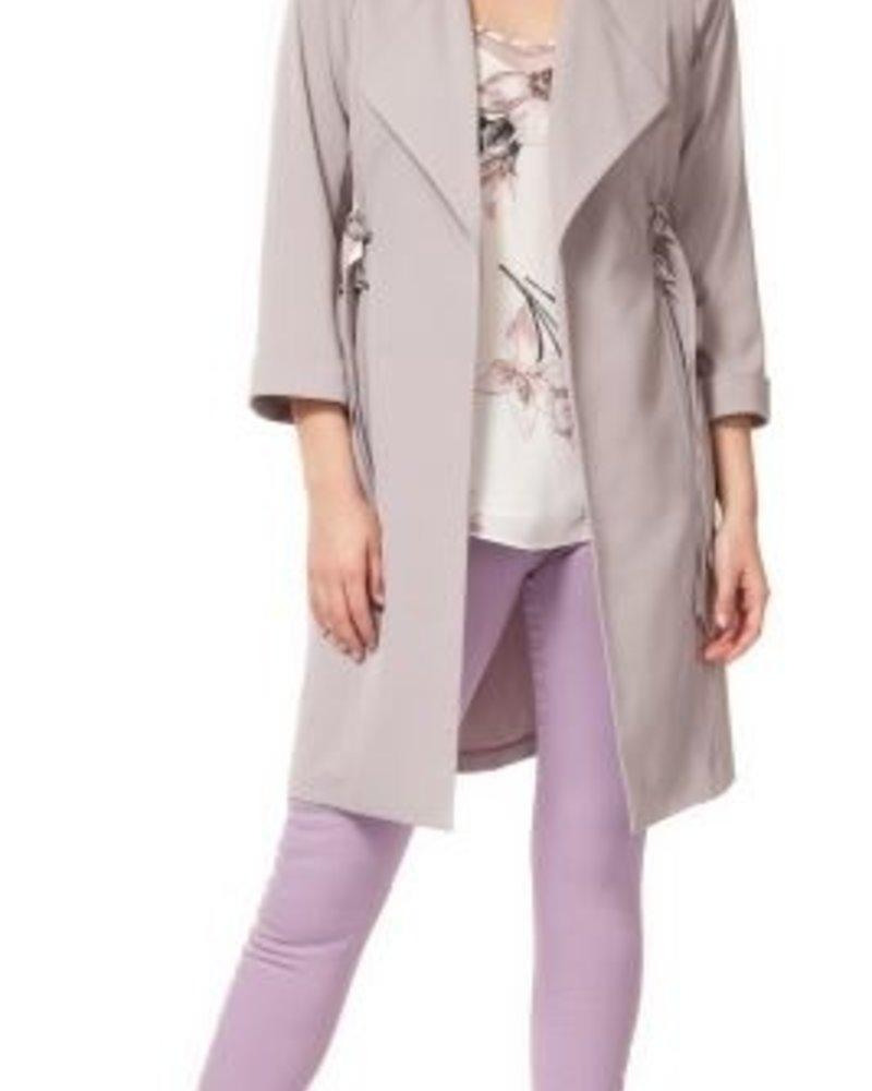 Double D-Ring Duster Coat | Grey