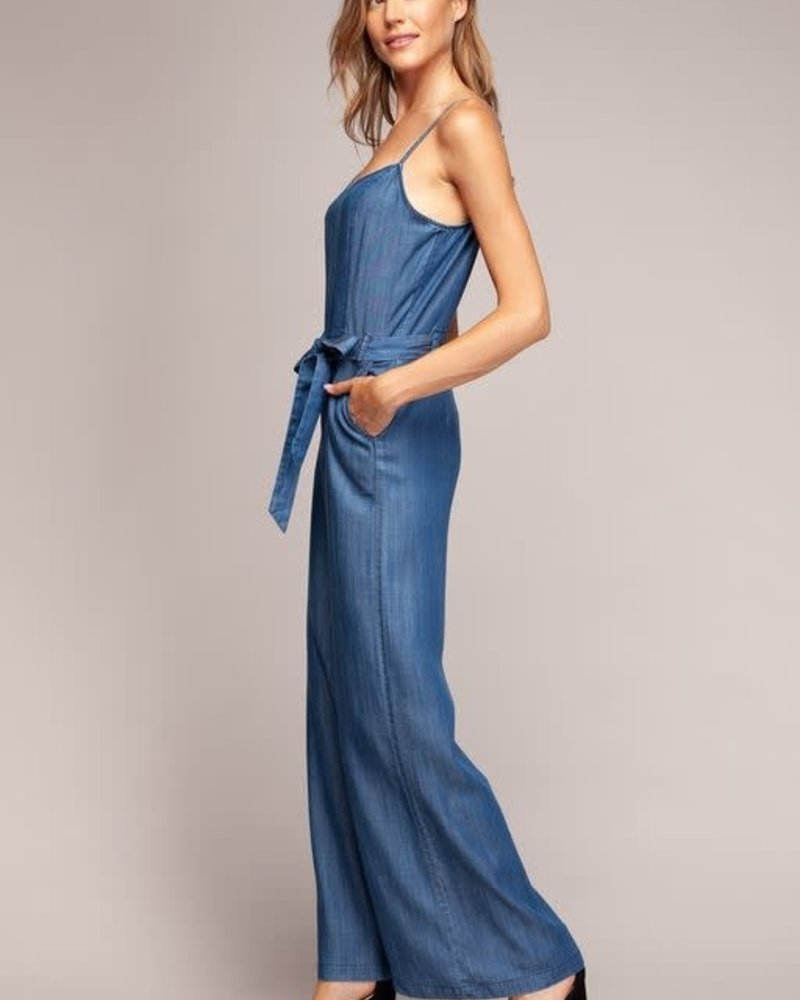 Medium Blue Wide Leg Jumpsuit