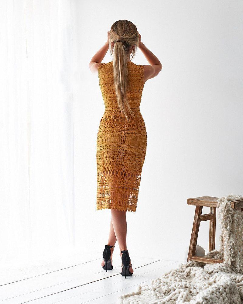 Scarlet Dress | Mustard