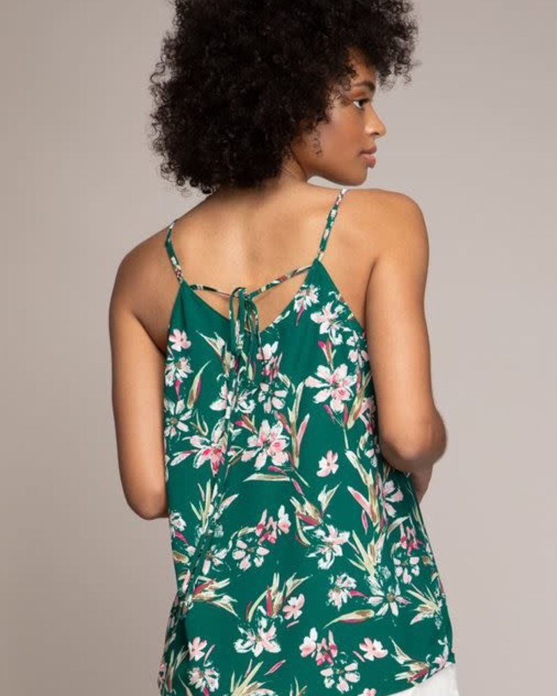 Strappy Tie Back Print Top